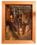 Ottobar, 2000, oil & acrylic on leopard print Lycra
