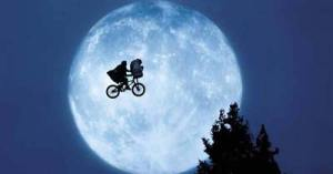 The iconic bike scene from E.T. (Amblin Entertainment)