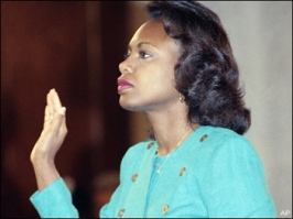 Anita Hill, image via Feministing: http://feministing.com/2011/10/13/anita-hill-on-sexual-harassment-ginny-thomas-slutwalks-and-more/