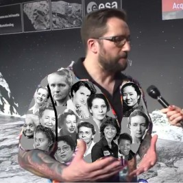 We don't really need to see the original again, do we? Here's Elly Zupko's hilarious photoshop remix covering the shirt with women scientists instead.